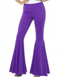 Pantalon disco violet femme