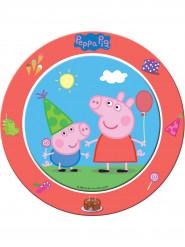 8 Assiettes en carton Peppa et George Peppa Pig™ 23 cm