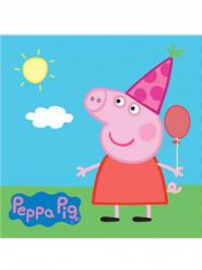 20 Serviettes en papier Peppa Pig ™ 33 x 33 cm