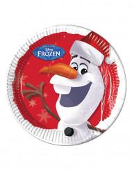 8 Assiettes en carton Olaf Christmas ™ 23 cm