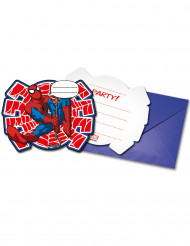 6 Cartes d'invitation + enveloppes Ultimate Spiderman Power™