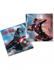 20 Serviettes en papier Captain America Civil War™