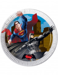 8 Petites assiettes en carton Batman vs Superman™ 19.5 cm