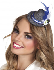 Mini chapeau bavarois à plume adulte