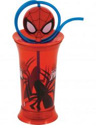 Verre en plastique avec paille Spiderman™
