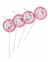 6 Pailles médaillon Hello Kitty™
