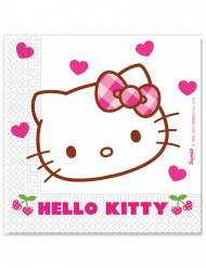 20 Serviettes en papier Hello Kitty ™