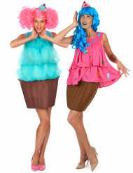 Déguisement de duo cupcake fantaisie femme