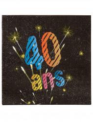 20 Serviettes en papier 40 ans feux d