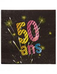 20 Serviettes papier 50 ans Feux d