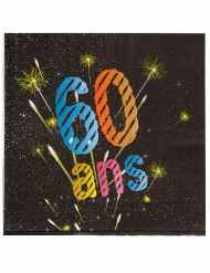 20 Serviettes en papier 60 ans feux d