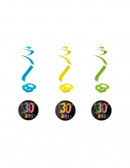 4 Suspensions spirales 30 ans feux d