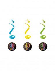 4 Suspensions spirales 40 ans feux d