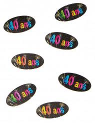 80 Confettis de table en papier 40 ans feux d