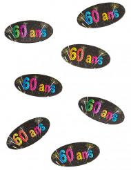 80 Confettis de table en papier 60 ans feux d