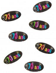 80 Confettis de table papier 70 ans Feux d