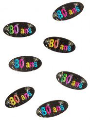 80 confettis de table papier 80 ans Feux d