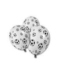5 Ballons en latex Ballons de foot 30 cm