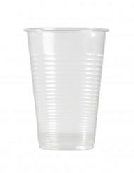 100 Gobelets en plastique transparent 220 ml