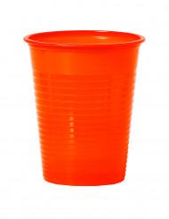50 Gobelets en plastique mandarine 20 cl