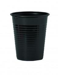 50 Gobelets en plastique noir 20 cl