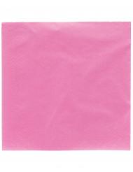 50 Serviettes en papier fuchsia 38 x 38 cm