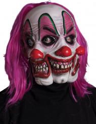 Masque clown à 3 visages adulte Halloween