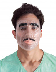 Masque transparent homme adulte