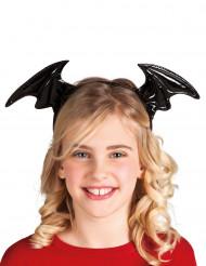 Serre tête ailes chauve-souris noires enfant Halloween