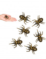 6 Décorations scarabées dorées 6 X 5 cm Halloween