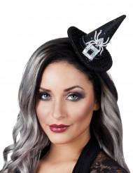 Mini chapeau sorcière sequins femme Halloween