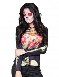 T-shirt manches longues squelette Dia de los muertos