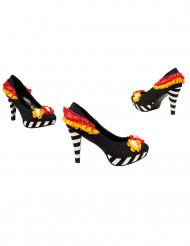Chaussures colorées femme Dia de los muertos