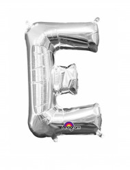 Ballon aluminium Lettre E argent 33 cm