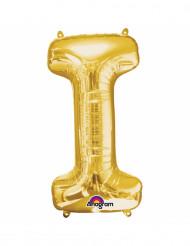 Ballon aluminium Lettre I doré 33 cm