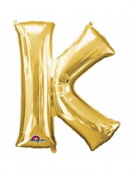 Ballon aluminium Lettre K doré 33 cm