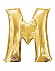 Ballon aluminium Lettre M doré 33 cm