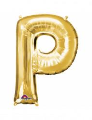 Ballon aluminium Lettre P doré 33 cm