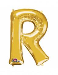 Ballon aluminium Lettre R doré 33 cm