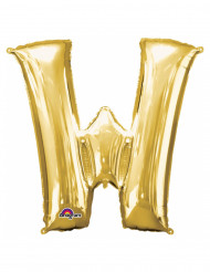 Ballon aluminium Lettre W doré 33 cm