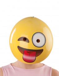 Masque emoji grimace adulte