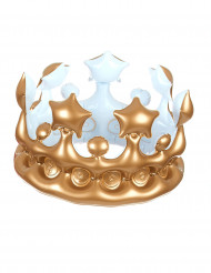 Couronne de roi gonflable or