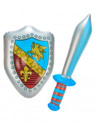 Epée et bouclier gonflables
