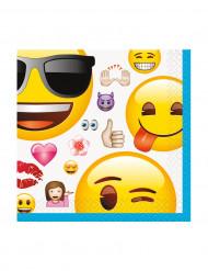 16 Petites serviettes en papier Emoji™ 25 x 25 cm