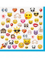 16 Grandes serviettes Emoji ™ 33 x 33 cm