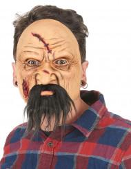 Masque latex viellard blessé adulte