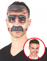 Masque transparent homme moustachu adulte