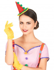 Serre-tête mini chapeau clown pointu adulte