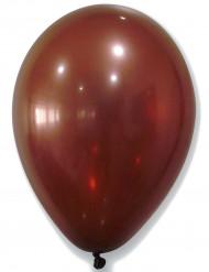 50 Ballons marron métallisé