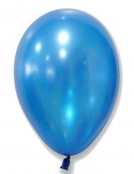 50 Ballons bleus métallisés 30 cm
